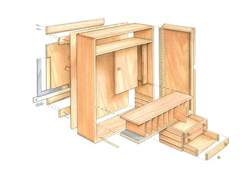 cabinet design plans free quick to build tool cabinet finewoodworking