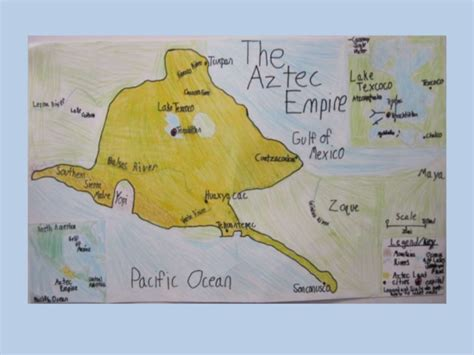 aztec empire map map of the aztec empire