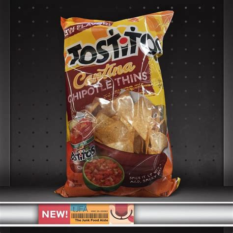 tostitos cantina chipotle thins  junk food aisle