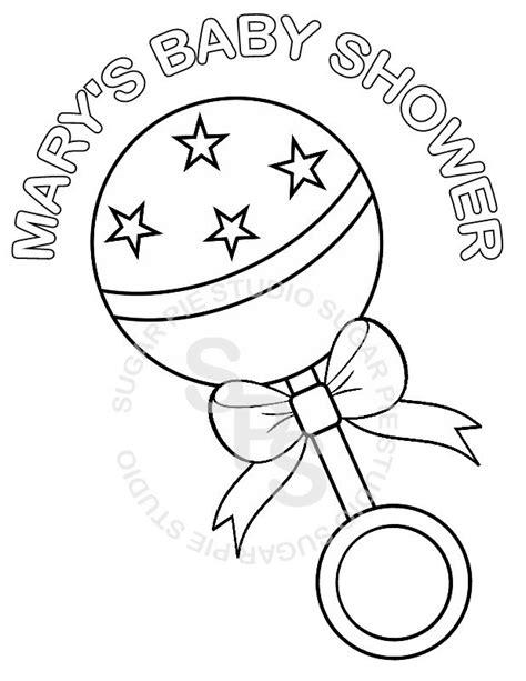 coloring pictures of baby items personalized printable baby shower favor by sugarpiestudio