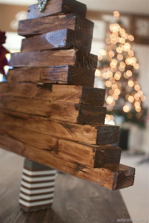 simple xmas wood easy craft wooden tree justdestinymag