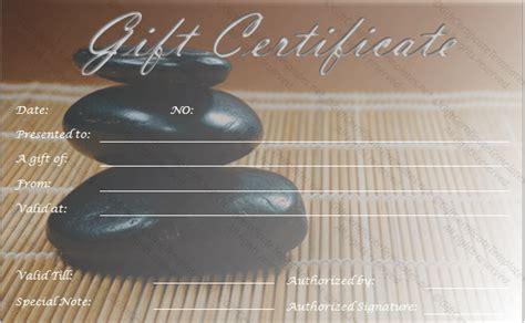 Zen Gift Card - spa gift certificate templates