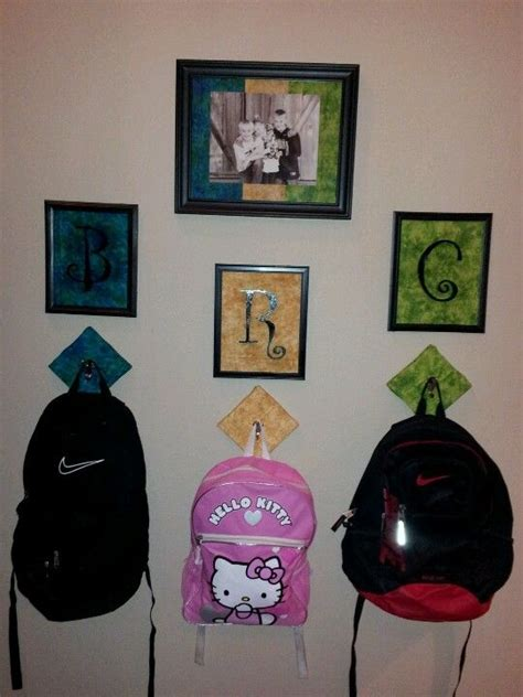backpack storage ideas 1000 ideas about backpack storage on