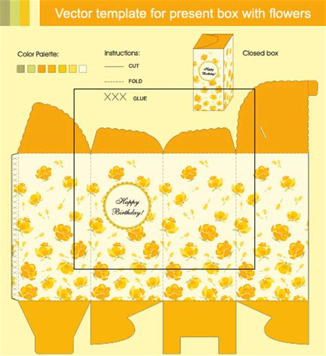 pattern package ai package present box models vector graphics free vector in