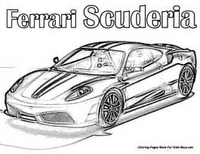 auto coloring scuderia ferrari car colouring pages supercar rally coloring pages