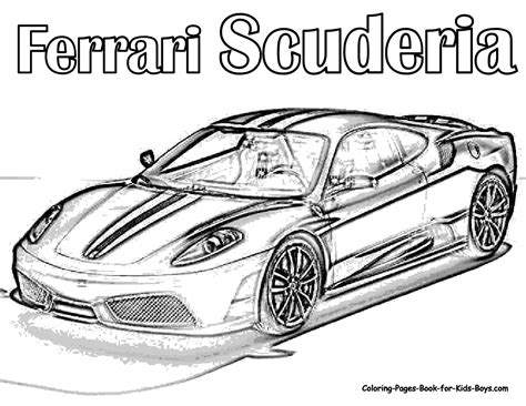 free printable coloring pages of cars for adults auto coloring scuderia ferrari car colouring pages
