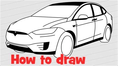 Tesla Model X Sketches by How To Draw A Car Tesla Model X