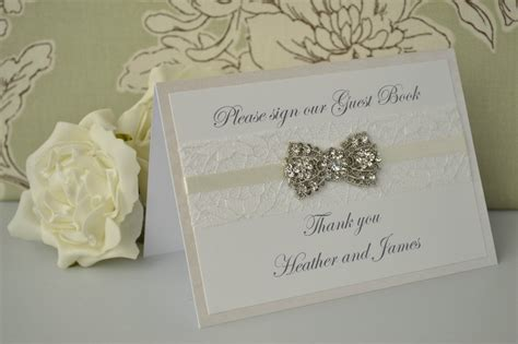 wedding guest book with pictures personalised wedding guest book sign vintage diamante
