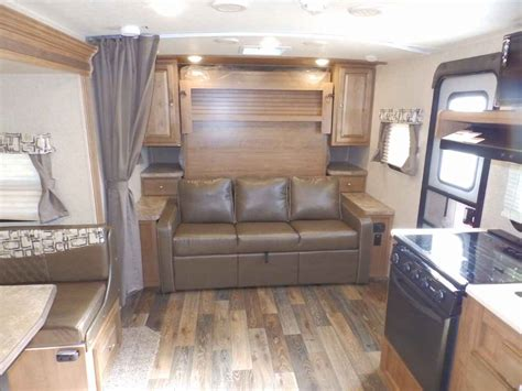 travel trailer with murphy bed 2018 new forest river rockwood 2104s 1 slide front