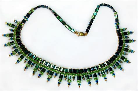 tila bead necklace patterns free pattern for necklace green with tila