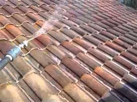 Barrel Tile Roof Chemically Cleaning A Clay Barrel Tile Roof Maitland Fl