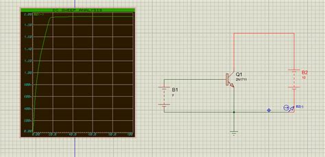 transistor bjt proteus bjt ic vs vbe graph in proteus simulation electrical engineering stack exchange