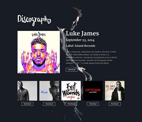Luke James Epk Sle On Pantone Canvas Gallery Epk Template
