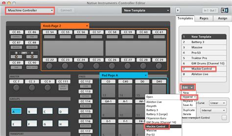 How To Use Maschine Controller In Mackie Control Mode With Ableton Live 8 Knowledge Base Support Maschine Ableton Template