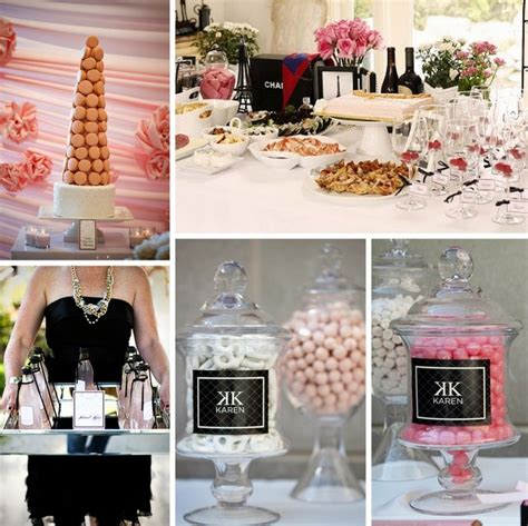 themed hen party ideas how to throw a chanel themed bridal shower southbound bride