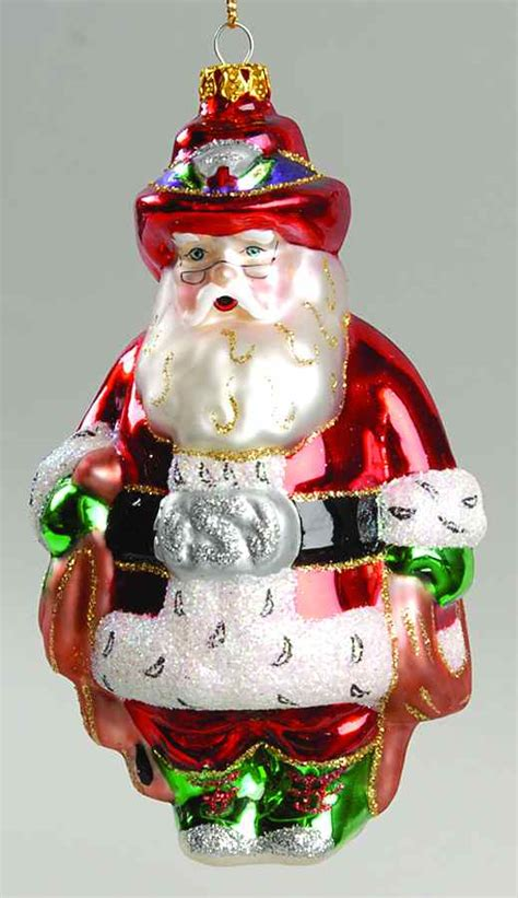 scottish christmas ornament rodeo santa 7354937 ebay