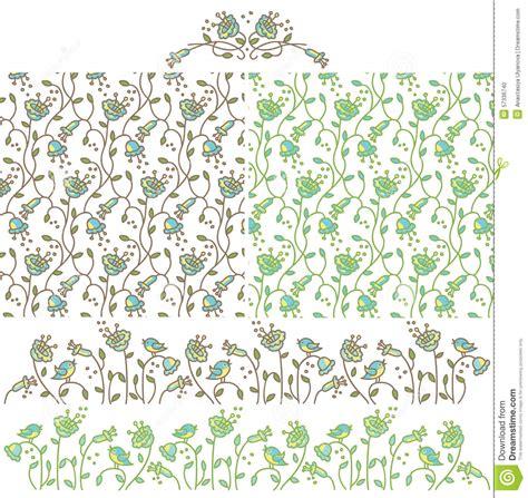 flowers seamless pattern element vector background seamless background with flowers bluebells and elements