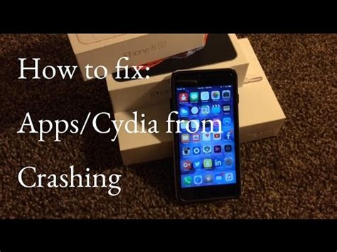 how to fix cydia from crashing after jailbreaking on iphone 6s plus 6s 6 plus 6 5s 5 4s 4