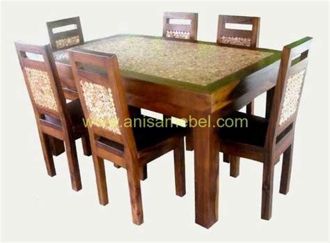 Meja Makan Jati Koin meja makan antik koin jati anisa mebel jepara pilihan furniture berkualitas