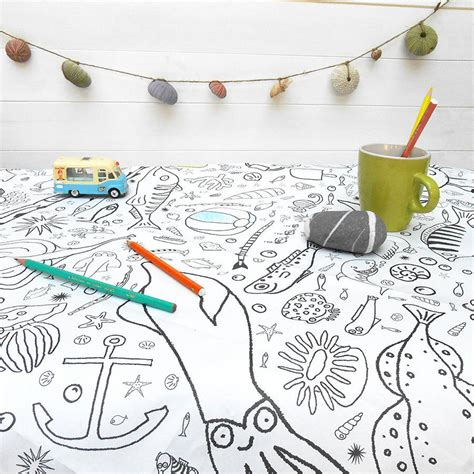 seaside colour in tablecloth eggnogg colouring in special offer colour in tablecloth christmas x2 for 163 12 by