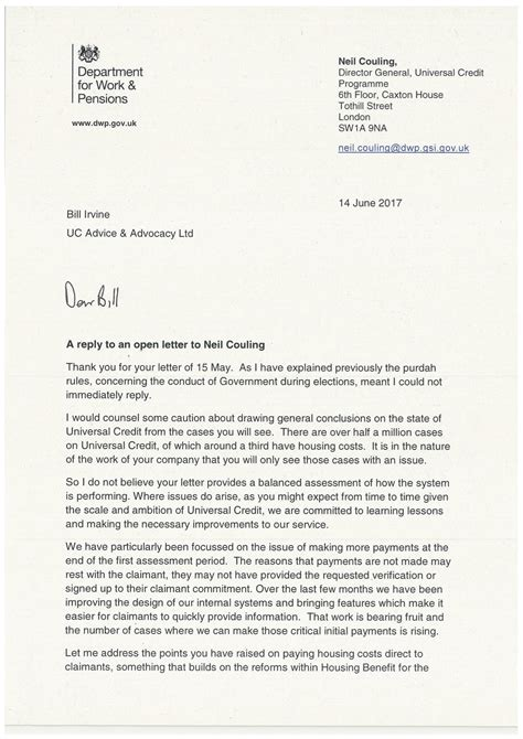 application letter addressed to the director general of immigration and emigration dear mr couling dwp s director general