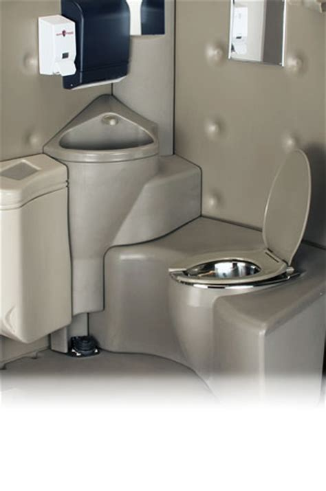 porta potty with sink the service flushing portable toilet with sink