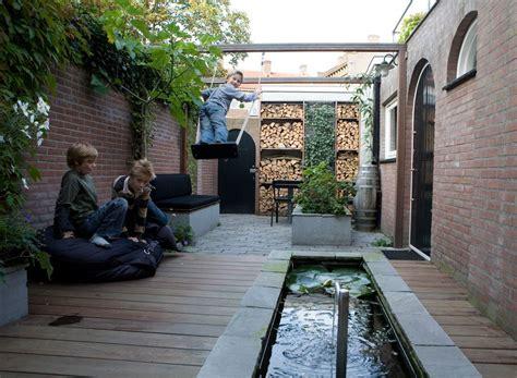 tuin op het noorden terras ontwerp voor een kleine smalle tuin op het noorden