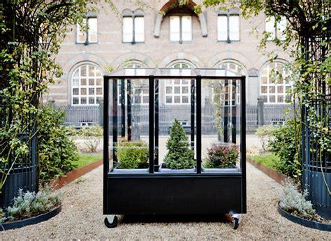 stylish urban greenhouse  wheels urban gardens