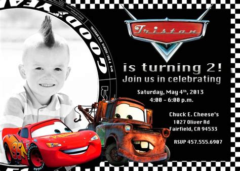 printable disney cars birthday invitations best 25 cars birthday invitations ideas on