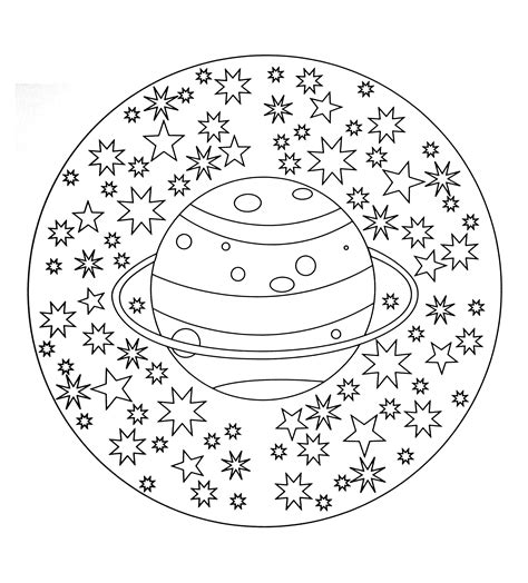 image gallery mandala star free mandala to color planet stars mandalas coloring