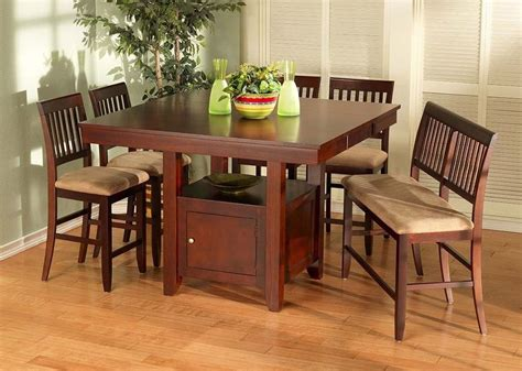 casual dining sets with bench casual dining 6pc set dining table bench chairs counter