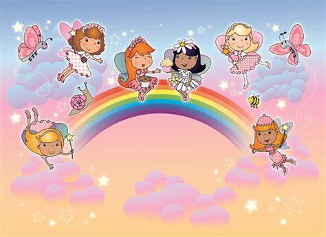 Sunset Wall Mural buy childrens rainbow fairies murals for 163 35 00 per sq m2
