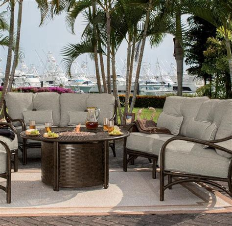 castelle resort fire pit 49 round coffee table outdoor