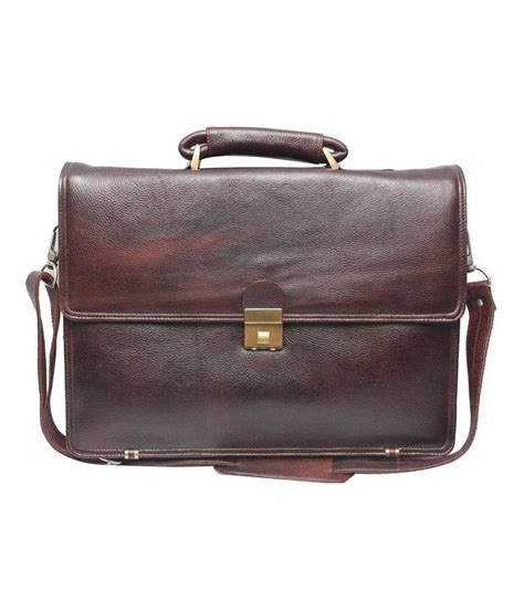 C Comfort by C Comfort Brown Genuine Leather 13 Inch Laptop Messenger
