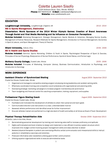resume in usa format colette sisofo resume usa 2014