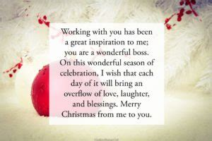 christmas wishes  boss   love messages