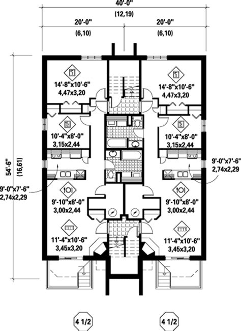 multifamily plans multi family plan 52422 at familyhomeplans com