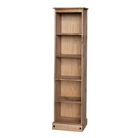Corona Mexican Pine Tall Narrow Bookcase Charlies Direct Narrow Pine Bookcase
