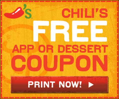 chilis printable coupon free appetizer or dessert august free dessert or appetizer from chilis everyday savvy