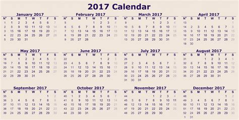 printable calendar view 12 month calendar 2017