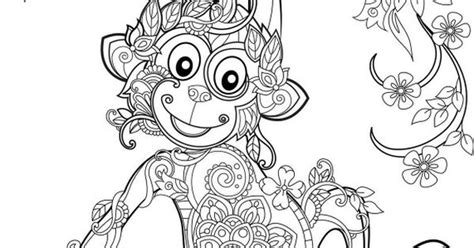 monkey coloriage mandala pinterest monkey adult