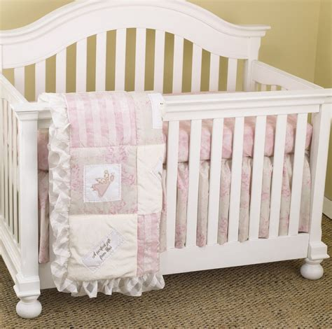 Pink Crib Bedding Crib Sets For Girls Girly Cotton Heaven Sent Crib Bedding