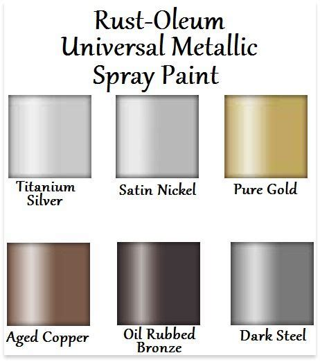 rust oleum universal metallic spray paint color chart need to spray paint