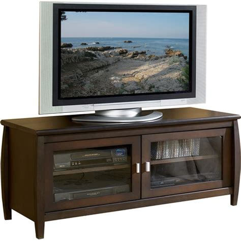 Walmart Furniture Tv Stands by Techcraft Walnut Tv Stand For Tvs Up To 52 Quot Walmart