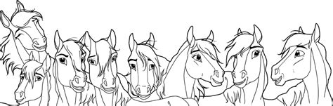 herd of horses coloring pages linearts favourites by zhalia moon on deviantart