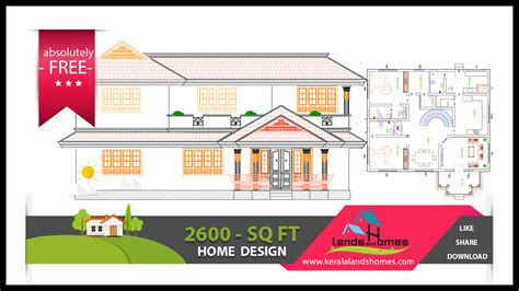 kerala home design free download download 2600 sq ft traditional design home plans kerala