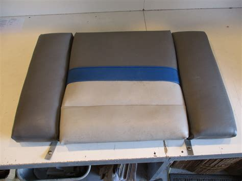 stern boat seats bayliner capri boat rear stern seat cushion grey blue 38 5