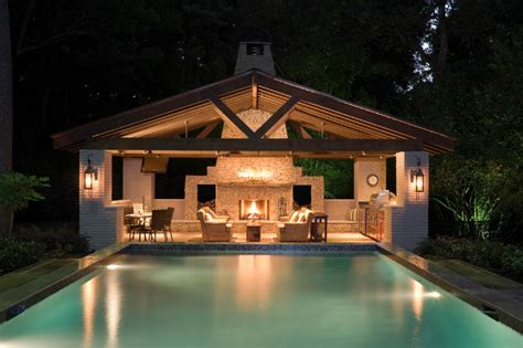 Pool House Contemporain by Pool House Contemporain Piscine Houston Par