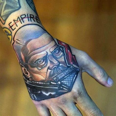 hand tattoo good or bad idea 50 breaking bad tattoo designs for men walter white ink