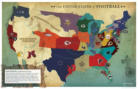 map usa football teams united states of football visual ly